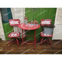 花园家居装饰 欧式乡村 个性做旧铁艺 公园桌椅 咖啡馆酒吧杂货