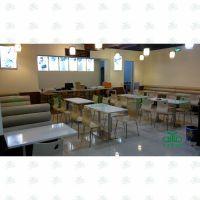 大理石餐桌奶茶店 咖啡馆餐厅桌椅 食堂小吃店分体餐桌组合
