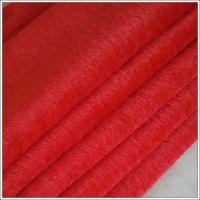 厂家特供纬编涤纶96F大红割圈绒