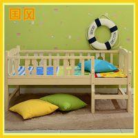 厂家直销高品质婴儿床 新型松木制婴儿床批发