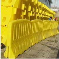 湖南滚塑高围栏水马1500*1200mm塑料防撞隔离墩围档 科凯水马,三孔水马,水马围栏,水马围挡