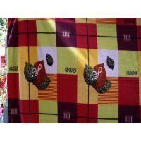 厂家直销双面绒针织家纺布料印花法兰绒床上用品四件套沙发布批发