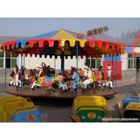广场公园娱乐项目,户外游乐场小型游乐设施,简易转马儿童转马