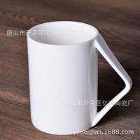 厂家批发骨质瓷直身转角水杯 纯白色陶瓷马克杯子 定制创意礼品