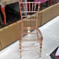 浙江义乌透明竹节椅批发 亚克力户外婚礼椅 树脂彩色水晶竹节椅