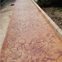 天津艺术压模地坪子母石模具定制,厂家直销C25公园纹路混凝土