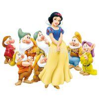 广州烫画厂家 来图订制 卡通动漫烫画 白雪公主与七个小矮人烫图,热转印