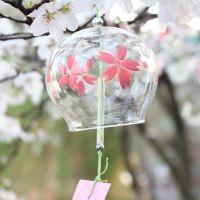 樱花日式风铃 日本玻璃风铃 和风饰品挂件 支持来图定制混批采购