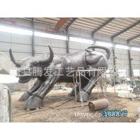 大型铜雕牛 华尔街牛 甘肃兰州牛场铜牛雕塑