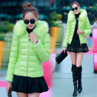 Ladies short coat 2016 new Korean fan big fur feather padded slim thick thin coat tide