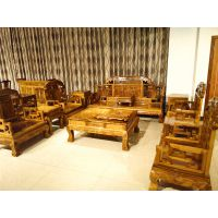 名琢世家客厅古典组合沙发金丝楠木制作生漆工艺