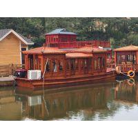 庆荣木业供应供应画舫船,餐饮船,仿古木船,旅游观光木船