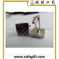 供应金属高品质袖扣 深圳客人来厂定做金属透明漆袖扣 同辉高品质