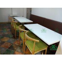大理石餐桌 中式餐厅人造石餐桌西餐厅大理石快餐桌 高档餐厅餐桌