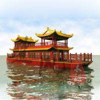供应上海山东安安徽大型餐饮船 西湖游船 水上餐厅船服务类船