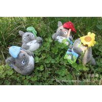 正品Littlecucu挂件新款荷叶龙猫毛绒公仔大号创意龙猫毛绒玩具