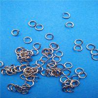 联丝厂家供应304不锈钢 开口单圈多规格手工DIY饰品配件链条连接圈