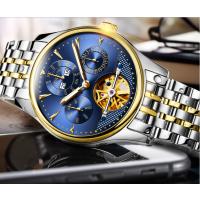 时尚镂空全自动机械表 防水手表男士商务金色碗表