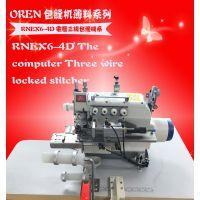 奥玲工厂用全自动锁领的机器 工业圆领机 服装加工设备 RNEX6-4D 缝纫设备包边机