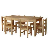 四川幼儿园家具实木课桌椅