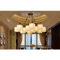 全铜玉石灯批发,具有中国特色的新中式高端灯具