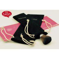 #5495 萌黛儿紫色心情化妆刷布袋刷包 大小号2只装 黑色麂皮绒