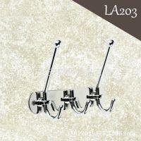 LA203 厂家直销浴室挂件 挂衣钩 不锈钢排钩 亮铬卫浴五金挂件