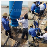 天津中蓝潜水轴流泵安装现场照
