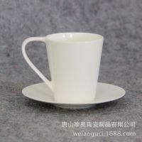 唐山骨质瓷咖啡杯碟 小千禧杯碟白胎 定制小咖啡杯碟礼品套装