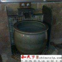 一米青花大缸定做 陶瓷泡澡大缸 景德镇陶瓷大缸定做 温泉洗浴缸