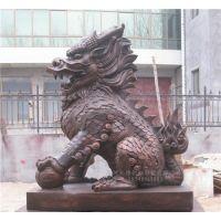 铜雕麒麟厂家_河南铜麒麟_博创雕塑