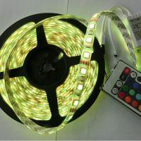 专业生产 LED七彩滴胶防水灯带 5050RGB60灯带