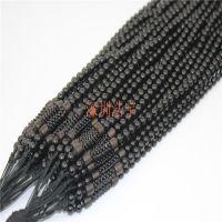 天然黑玛瑙+天然木质项链绳挂件 韩版服饰配件 饰品批发 厂家供货