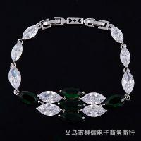 订做 奢华梦幻夺目梯方水晶钻石手链 AAA锆石手链 女 厂家直销