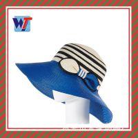 新款帽子夏天 拉菲草草帽淑女 韩版女士手钩大沿帽沙滩帽外贸出口