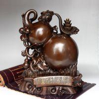 开光纯铜福禄吉祥葫芦摆件铜葫芦工艺品风水家居工艺品礼品摆设
