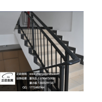东莞正启金属护栏制造 锌钢楼梯扶手护栏