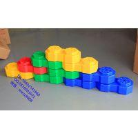 幼儿园积木儿童积木圆柱大积木儿童超大号八角造景积木儿童塑料拼搭积木幼儿园大块积木积木球池 大型积木