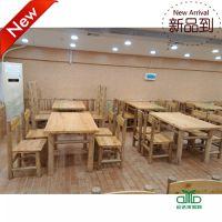 供应东莞惠州餐厅家具订做 餐桌椅组合|茶餐厅实木餐桌|快餐桌椅 运达来直销