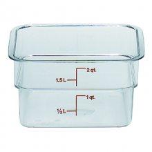 2SFSCW Cambro聚碳酸酯透明储物罐 厨房食品杂粮保鲜盒 密封收纳盒