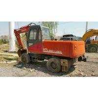 供应二手轮胎式挖掘机 国产二手轮式恒特HTL100A-2挖掘机