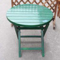 现代中餐厅实木家具 海德利圆形拼接板面实木桌 折叠式6人位餐台