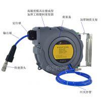 益友恒信 自动伸缩卷管器PU夹纱管气动工具6.5*10MM气管气鼓风管20米