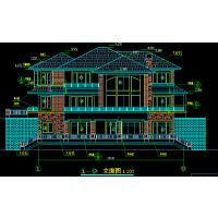 欧式风格独栋别墅建筑设计施工图亿城金桥广西嘉和