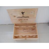 实木红酒木箱松木六支装葡萄酒礼盒 红酒木盒现货葡萄酒包装盒