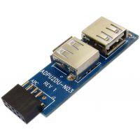 供应9pin转USB转接卡 9针转双口USB2.0转接器 主板9针转USB2.0读卡器