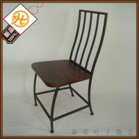 厂家批发 美式乡村家具铁艺做旧酒吧餐桌椅 时尚客厅休闲椅子