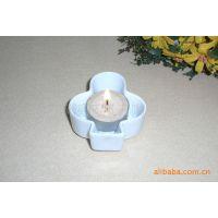 日用陶瓷白色蜡烛台,酒店餐厅酒吧用品,灌蜡产品,炻瓷蜡烛座