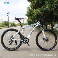 劲特山地车自行车24速双碟刹久裕铝架禧马诺变速器变速车学生单车
