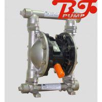供应烟台上海边锋固德牌气动隔膜泵QBY3-40PF不锈钢304材质卫生防爆耐腐蚀耐酸碱溶剂